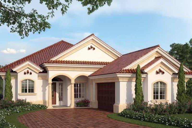 House Plan Design - Mediterranean Exterior - Front Elevation Plan #938-24