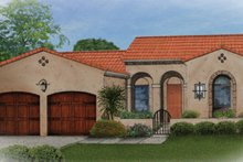 Home Plan - Mediterranean Exterior - Front Elevation Plan #1058-4