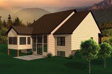 Exterior - Rear Elevation Plan #70-1105