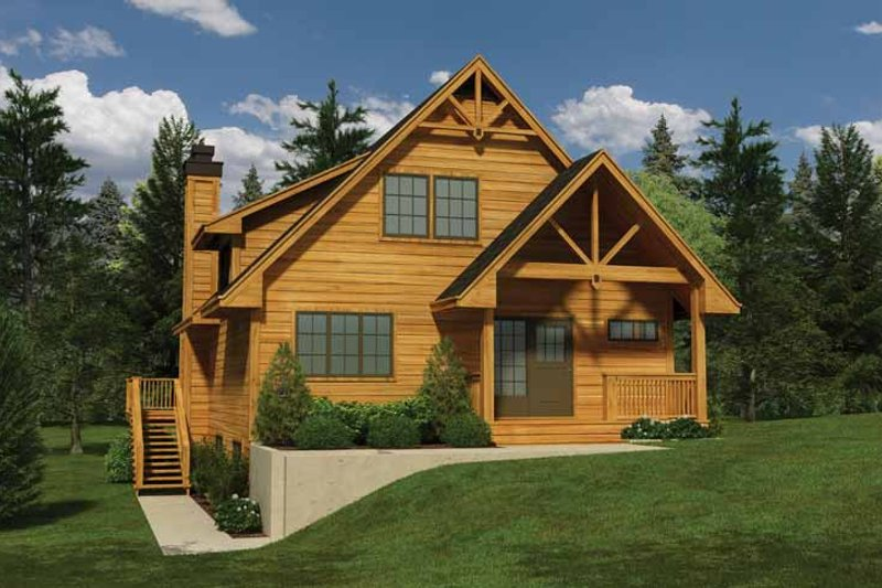 Architectural House Design - Traditional Exterior - Front Elevation Plan #118-149