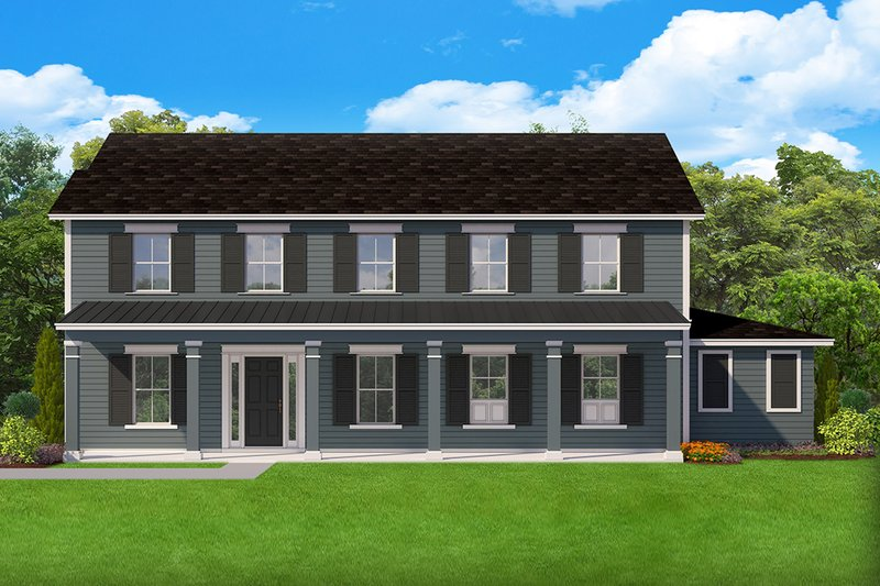 Dream House Plan - Farmhouse Exterior - Front Elevation Plan #1058-176