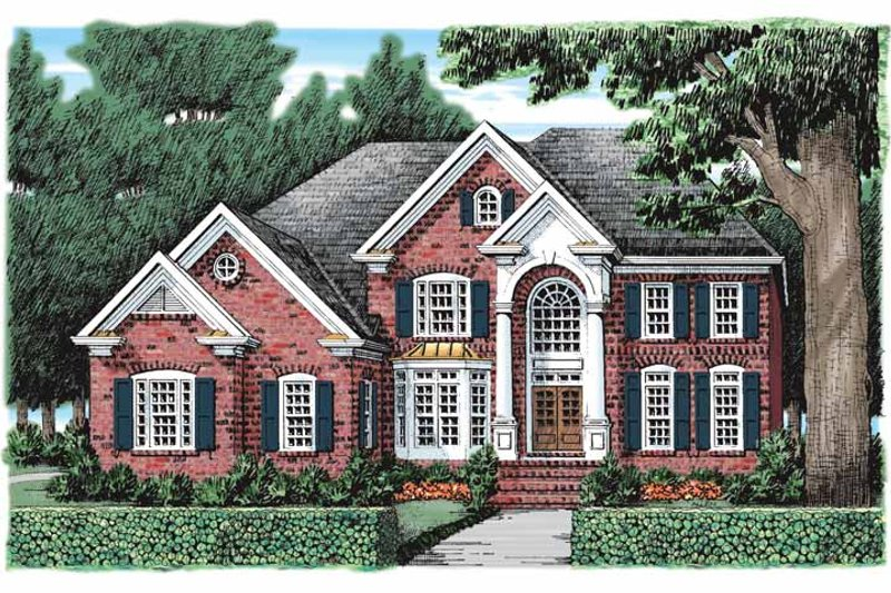 Classical Exterior - Front Elevation Plan #927-920