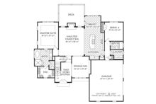 Cottage Floor Plan - Main Floor Plan Plan #927-977