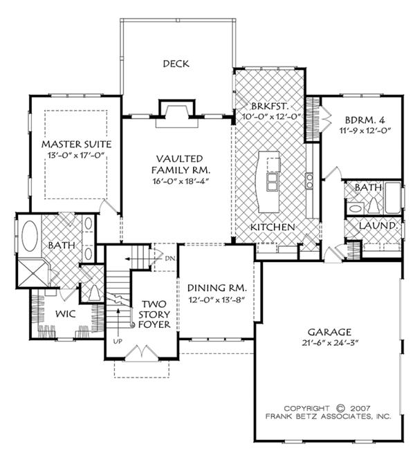 Dream House Plan - Cottage Floor Plan - Main Floor Plan #927-977