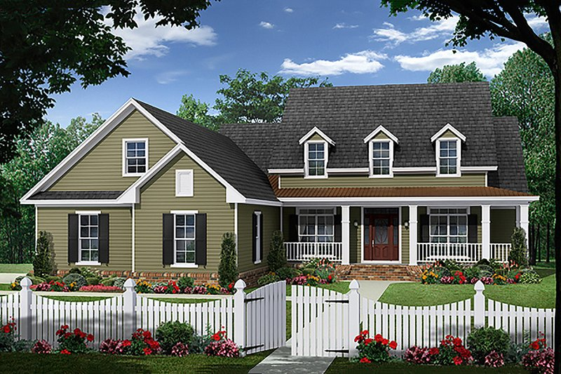 Home Plan - Country Exterior - Front Elevation Plan #21-379