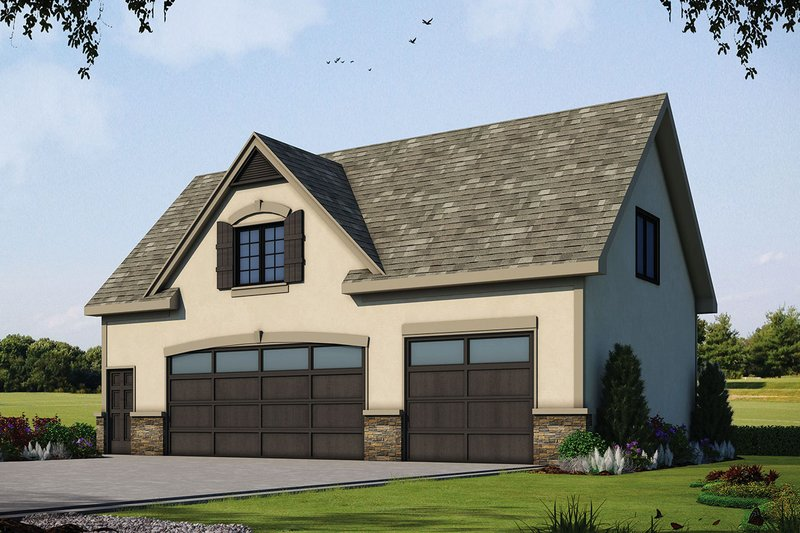 Traditional Style House Plan - 1 Beds 1 Baths 1404 Sq/Ft Plan #20-2310