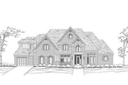 Traditional Style House Plan - 5 Beds 4.5 Baths 5000 Sq/Ft Plan #411-814 Exterior - Front Elevation