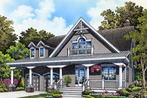 Ranch Exterior - Front Elevation Plan #929-994