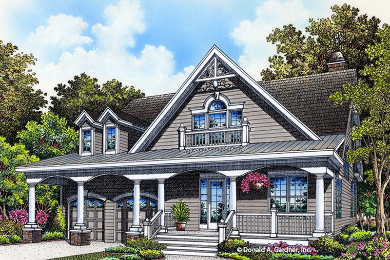 Architectural House Design - Ranch Exterior - Front Elevation Plan #929-994