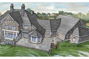 Craftsman Style House Plan - 4 Beds 3 Baths 6145 Sq/Ft Plan #928-104 Exterior - Rear Elevation