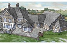 Craftsman Exterior - Rear Elevation Plan #928-104