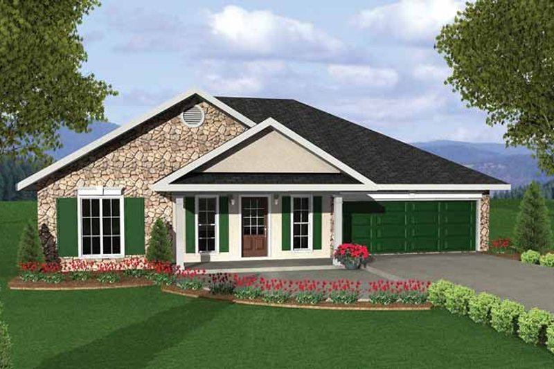 Architectural House Design - Traditional Exterior - Front Elevation Plan #44-204