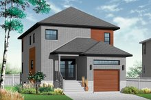 Dream House Plan - Contemporary Exterior - Front Elevation Plan #23-2482