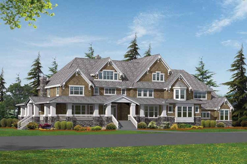 Craftsman Exterior - Front Elevation Plan #132-252 - Houseplans.com