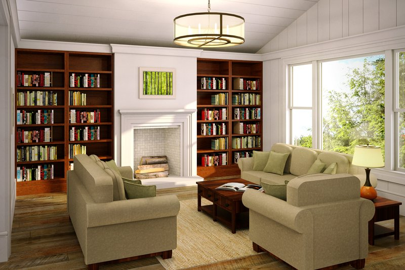 Ranch Interior - Family Room Plan #124-887 - Houseplans.com