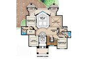 Mediterranean Style House Plan - 5 Beds 5.5 Baths 6197 Sq/Ft Plan #27-392 Floor Plan - Upper Floor Plan
