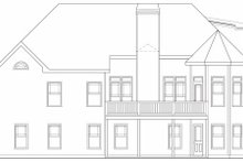 Dream House Plan - Traditional Exterior - Rear Elevation Plan #419-146