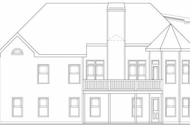 Traditional Exterior - Rear Elevation Plan #419-146 - Houseplans.com
