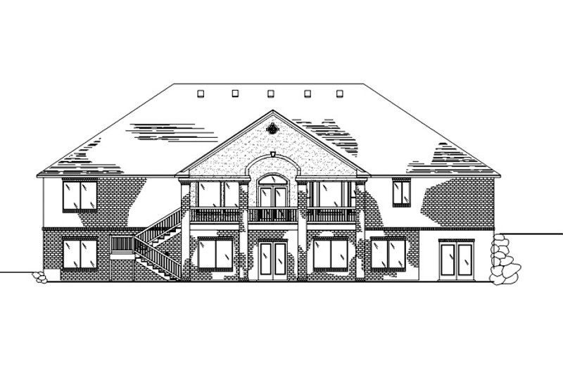 European Exterior - Rear Elevation Plan #945-129 - Houseplans.com