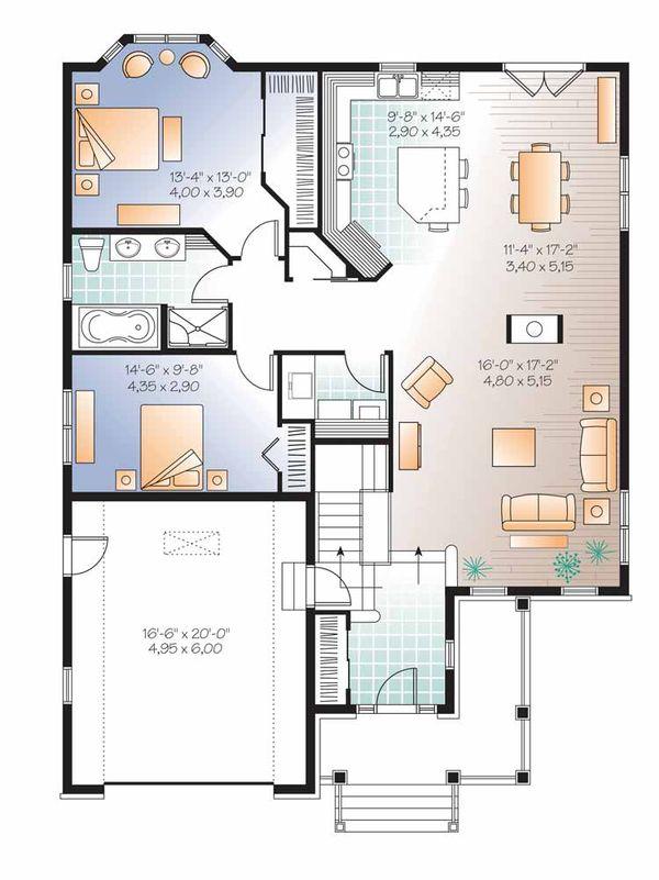 Dream House Plan - Traditional Floor Plan - Main Floor Plan #23-2525