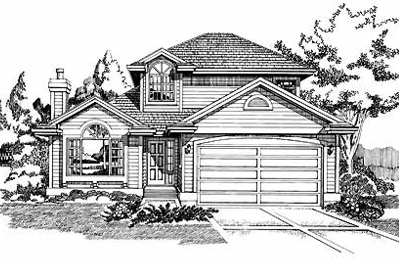 House Blueprint - Traditional Exterior - Front Elevation Plan #47-729
