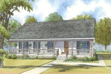 Architectural House Design - Country Exterior - Front Elevation Plan #923-34