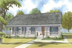 Country Exterior - Front Elevation Plan #923-34