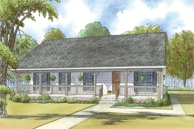 Dream House Plan - Country Exterior - Front Elevation Plan #923-34