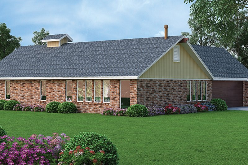 European Exterior - Rear Elevation Plan #45-566 - Houseplans.com