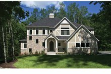 Tudor Exterior - Front Elevation Plan #928-234