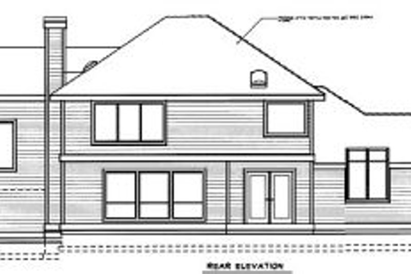 Traditional Exterior - Rear Elevation Plan #94-201 - Houseplans.com