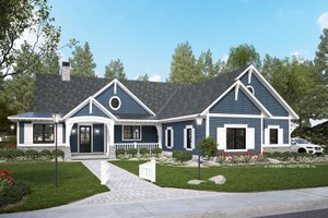 Ranch Exterior - Front Elevation Plan #928-358