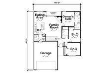 Farmhouse Floor Plan - Main Floor Plan Plan #20-2363