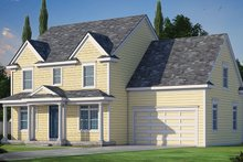 Colonial Exterior - Front Elevation Plan #20-2250