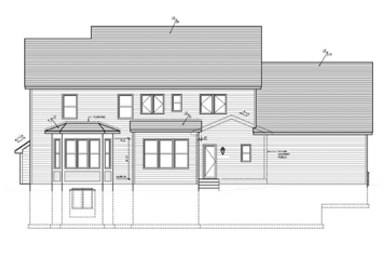 Colonial Exterior - Rear Elevation Plan #1010-39 - Houseplans.com