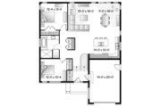 Contemporary Style House Plan - 2 Beds 1 Baths 1283 Sq/Ft Plan #23-2575 Floor Plan - Main Floor Plan