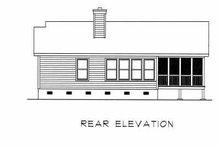 Cottage Exterior - Rear Elevation Plan #22-120