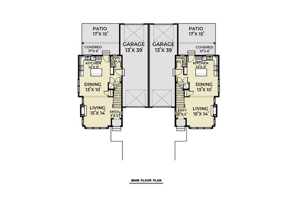 Farmhouse Floor Plan - Main Floor Plan #1070-96