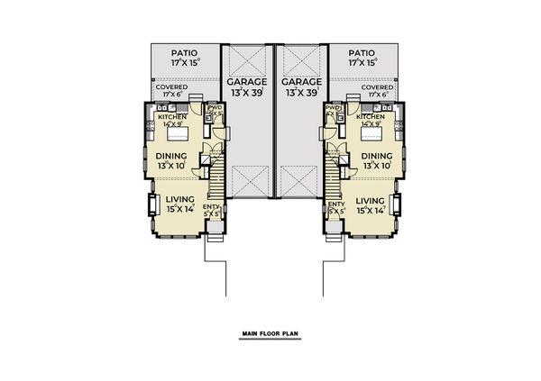 Dream House Plan - Farmhouse Floor Plan - Main Floor Plan #1070-96