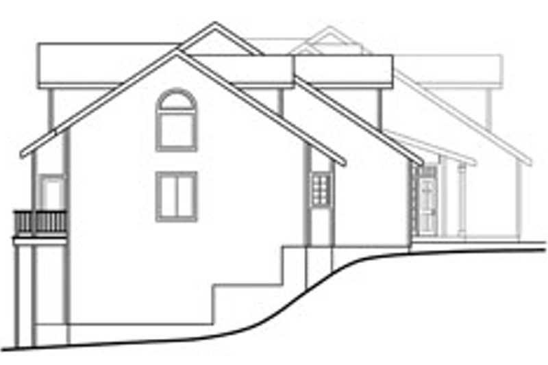 Traditional Exterior - Other Elevation Plan #124-810 - Houseplans.com
