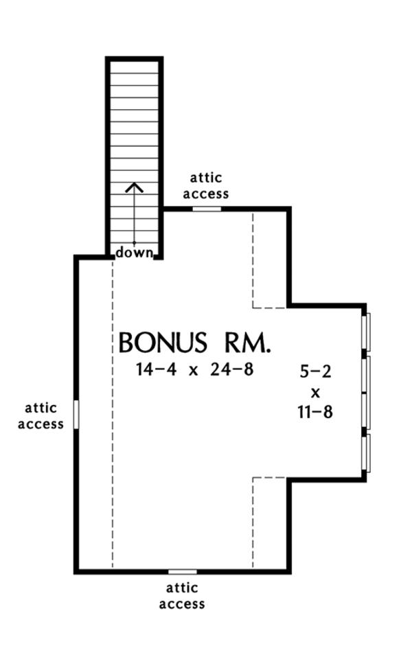 Craftsman Floor Plan - Upper Floor Plan Plan #929-999
