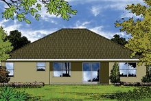 Home Plan - Mediterranean Exterior - Rear Elevation Plan #417-821