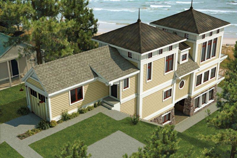 Contemporary Exterior - Front Elevation Plan #928-249 - Houseplans.com