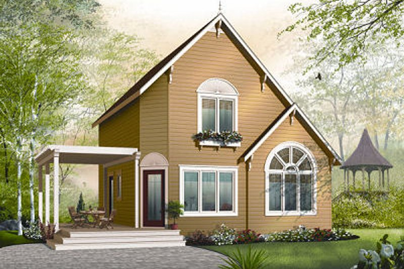Traditional Exterior - Front Elevation Plan #23-867 - Houseplans.com