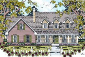 Architectural House Design - Country Exterior - Front Elevation Plan #42-344