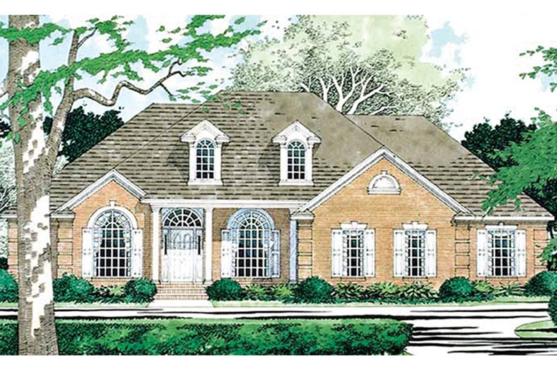 Colonial Exterior - Front Elevation Plan #472-171 - Houseplans.com