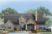 European Exterior - Rear Elevation Plan #929-954