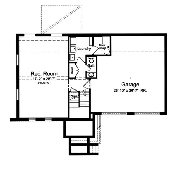 Contemporary Floor Plan - Lower Floor Plan Plan #46-841