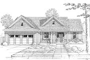 Country Style House Plan - 3 Beds 2 Baths 1577 Sq/Ft Plan #46-892