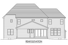 Colonial Exterior - Rear Elevation Plan #1010-217